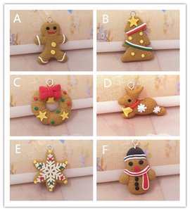 Wholesale chrismas decoration tree resale online - New Festive Mini Gingerbread Man Christmas Ornaments Deer Snowman Chrismas Tree Pendant Decoration New Year Decor Party Supplies