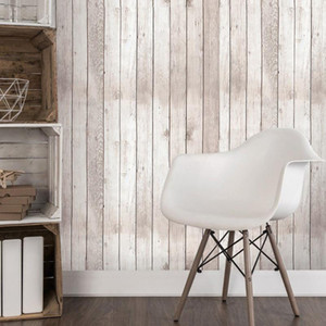 Wholesale contact paper resale online - Wallpaper d Waterproof Vintage Wood Panel Wallpaper for walls self adhesive Contact paper Hotel Library Bedroom Living room