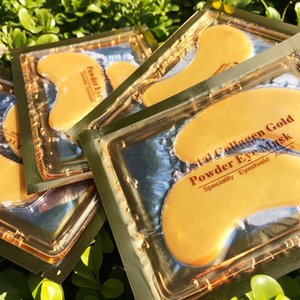 Wholesale 20Pairs lot rystal Collagen Eye Mask Dark Circles And Fine Lines White Gold Eye Patches Face Skin Care Free Shipping