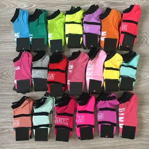 Wholesale Fashion Pink Black Socks Adult Cotton Short Ankle Socks Sports Basketball Soccer Teenagers Cheerleader New Sytle Girls Women Sock with Tags