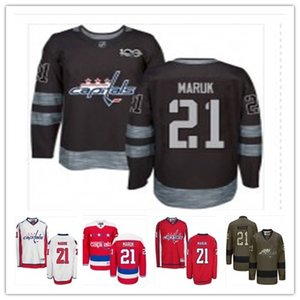 Wholesale top can Washington Capitals Jerseys#21 Dennis Maruk Jersey men#WOMEN#YOUTH#Baseball Jersey Majestic Stitched Professional sportswear