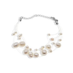 Wholesale More fish line string pearl necklace female clavicle chain hipster simple small fresh wild gift