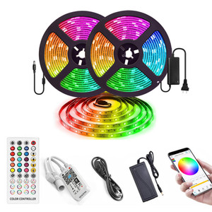 kit de cambio de color de luz led al por mayor-Luces de tira llevadas flexibles impermeables Kit Luces Led cambio de color de RGB LED de luz Tiras Kit con IR de las llaves del controlador remoto