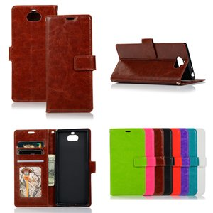 Wholesale News For Sony Xperia Crazy Horse Grain Wallet PU Leather Case Cover Card Holde