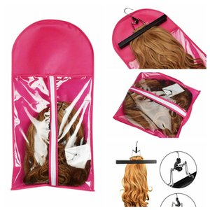 Wholesale heap Wig Stands pc Portable Hair Extensions Package Suit Case Wig Storage Bag Clothing Holder for Hair Weft Extensions Clothing Items St