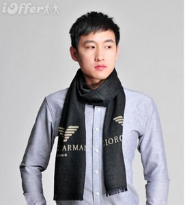 New Mens Pairs Scarf 100% Brand Two Side Black Red Wool Scarf Fashion Brand Women Popular Designer Winter Warm Flower Scarves Pashmina