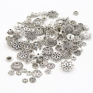 Wholesale 1500pcs Mixed Size Tibetan Antique Silver Color Flower Bead End Caps For Jewelry Making Findings Needlework Diy Accessories