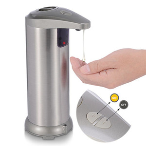 Touchless Automatic, Infrared Motion Sensor Stainless Steel Dish Liquid Free Auto Hand Soap Dispenser for Bathroom Kitchen Waterproof Base