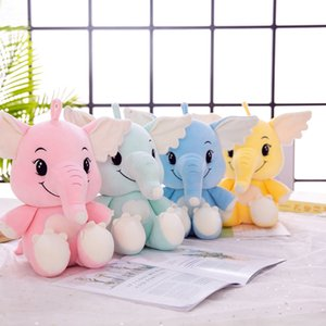 Wholesale Cute Girl Down Cotton Elephant Boutique Doll Birthday Gift Plush Stuffed Toys Animal Baby Accompany Sleep Toy For Kids