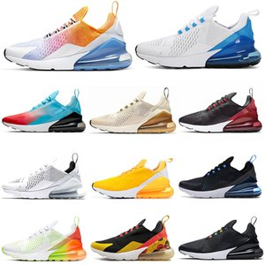 Wholesale FLORAL Running Shoes for Women Men Shoes SE Summer Gradients Triple Black White RAINBOW HEEL Volt Orange Mens Trainer Sport Sneakers