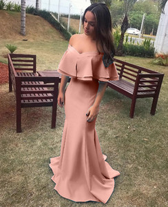 Elegant Long Prom Dresses 2019 Sexy Thigh-High Slits Spaghetti Straps A Line Prom Dress on Sale