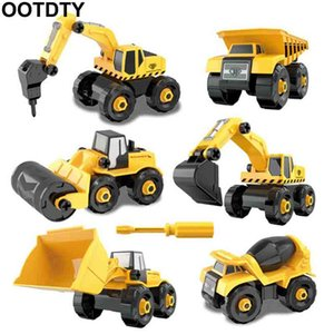 Wholesale Disassembly Assembly Engineering Car Tractor Toy Truck Model Toy Vehicles Building Block Kids Toy