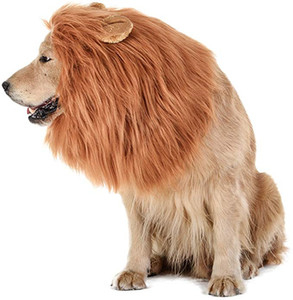 Dog Lion Mane Realistic Funny Lion Mane for Dogs Costumes Halloween Hair Ornaments Pet Costume Clothes MMA2685