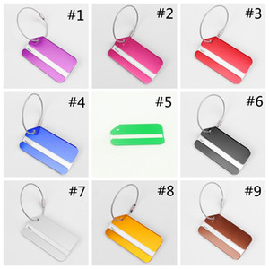 Wholesale name tag business resale online - Aluminum Alloy Luggage Tags Travel Luggage Name ID Address Tags Luggages Consignment ID Card Travel Business Trip Accessories HHA619