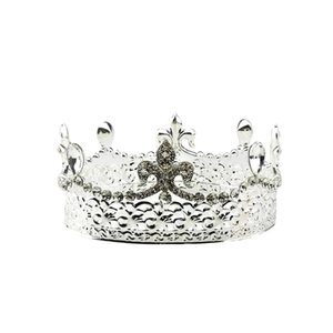 Wholesale Baroque Bridal Crown Tiara Crystal Bride Round Headband Wedding Tiara Full Crown Wedding Accessories Silver