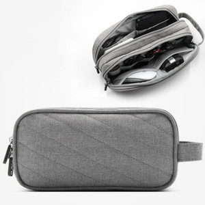 Wholesale Portable Travel Digital Cable Bag Multi functional USB Charger Pouch Wires Electronics Accessories Organizer Pouch
