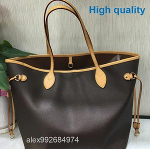 Wholesale Best A real oxidize Cowhide leather Hot Sell nf women handbag never Shoulder Bags full lady Totes shopping purse