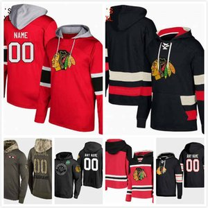 Wholesale Custom Chicago Blackhawks Hoodie Black Dominik Kahun 21 Brendan Perlini 11 Chris Kunitz 14 Drake Caggiula 91 Slater Koekkoek 68 S-3XL