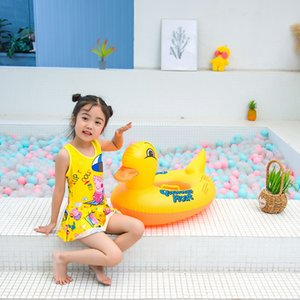 Wholesale Small Yellow Duck Swimming Tube Inflatable Thick Little Duck Children BABY S Toilet Seat
