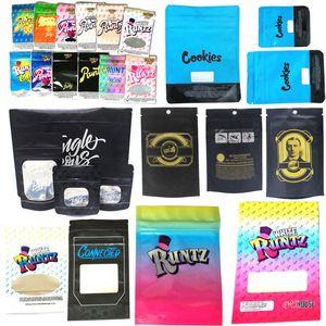 Runtz Chuckles Zipper Bags Cookies Connected Jungle boys Garrison Lane Alien Labs Package E Cig DHL Free