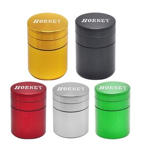 Wholesale Metal Herb Grinder Tobacco Container Ceramic Smoking Pipe Herb Grinders Portable Pill Box Horent New Design
