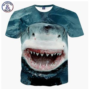 Wholesale Mr Brand New Design Big White Shark d Printed T shirt For Boys Or Girls Big Kids T Shirts Teens Tops Tee A59 Y19051003
