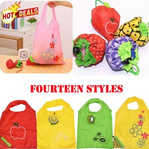 Wholesale Reusable Foldable Shopping Bag Eco Fruit Tote Handbag Fold Away Ladies Clip