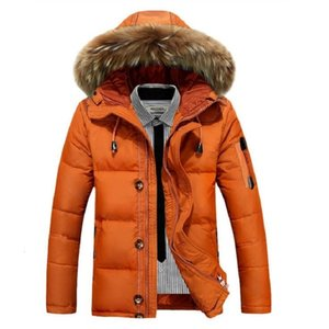 Wholesale High Quality Men s Winter Jacket Thick Snow ParkaS Overcoat White Duck Down Jacket Men Windbreaker Brand Down Coat Drop Shipping SH190929