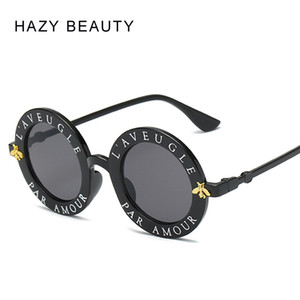 Wholesale L aveugle Par Amour Round Sunglasses Women Distinctive Fashion Sunglasses Men Unique Brand Designer Retro Sun glasses uv400