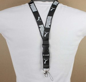 Wholesale Fashion Label Lanyard Tie Sling Key ID Card Pass Gym Mobile USB Badge Stand DIY Strap Strap Lasso
