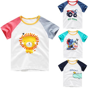 Wholesale cartoon shirts for kids for sale - Group buy Cute Shirts For Boys And Girls Toddler Baby Kids Boys girls Cartoon Animal Print Short Sleeve Pullover Clothes Tops Clothes