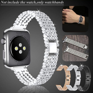 Wholesale Stylish Crystal Diamond strap for Apple Watch band mm mm mm mm stainless steel Replacement Bands bracelet iWatch series