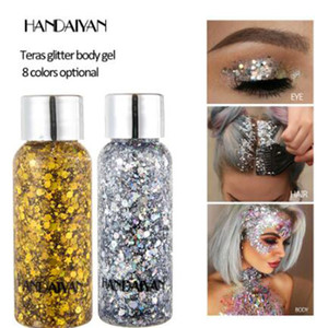 Wholesale stage makeup eyes for sale - Group buy HANDAIYAN Teras glitter body gel face body sparkle body cream eye shadow dazzle polarized light stage makeup