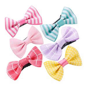 Wholesale Children s Hair Accessories Girls Hairpin Hairpins Hairband Leather Girls Bow Edges Hairpins Cute Butterfly Clips