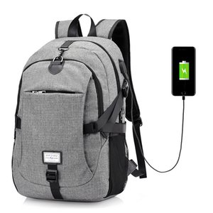 Waterproof Men Large Backpack Nylon USB Charging Anti-theft Port Laptop Unisex Travel School Backpack