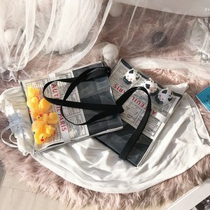 Wholesale 2019 The Newest Item New Arrival Transparent plastic materials Purse Should Bag Girls love Kids Sweet Lady Fashion Bag Yellow Duck Joy
