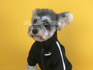 Wholesale Dog clothes autumn tide brand Korean business words now boyfriend with Teddy schnauzer Bomei law fighting cat sweater coat W9