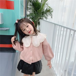 Wholesale Baby Girl Sweaters Coats Autumn Winter Children s Clothing Toddler Girl Knitting Jackets Toddler Outwear Coats Cute Jackets