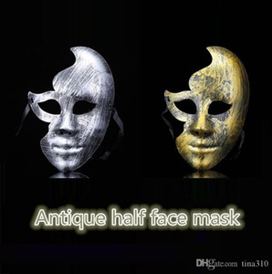 Wholesale creative face mask for sale - Group buy New hot sale Creative horror antique plastic face party for adult masks Antique half face mask T4H0252