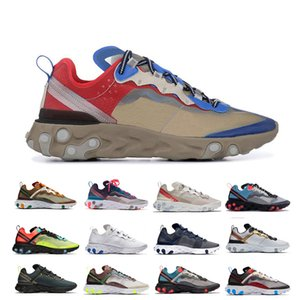 Wholesale High Quality Orange Peel Royal Tint React Element Running Shoes Women Blue Chill Sail Green Mist Men Trainer Sports Sneakers