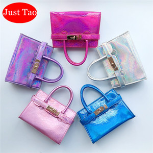 Wholesale girl handbags for kids for sale - Group buy Just Tao Childrens Fashion Leather handbags new sale Kid brand Totes Toddlers Mini coin purse little Bags for Girls Wallets JT088