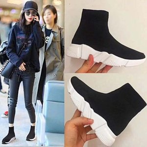 Designer Speed Trainer Fashion Trainer Black Designer Sneakers Men Women Black Red Casual Shoes Fashion Socks Sneaker Top Boots Size 36-45