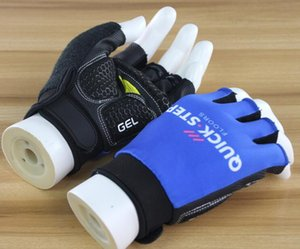 Explosion model 2018 Tour de France team version half finger gloves cycling gloves mountain bike gloves shockproof breathable non-slip