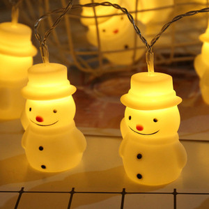 Wholesale BRELONG Christmas Outdoor LED Garden Lantern Chain Christmas Snowman String Light Cane Style Light Chain 1pc