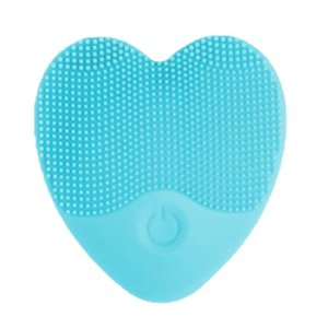 Lovely Heart Three Colors Available Ultrasonic Face Cleanser Electronic Vibration Facial Cleaning Silicone Scrubber