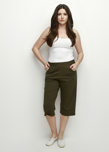 pianoluce Lyre Large Size Women's Capri Khaki 39055 on Sale