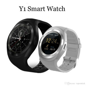 Wholesale Top Hot Y1 Bluetooth Smart Watch Wristband Bracelet with SIM Card Slot for android cellphones IPS Round Water Resistant with Retail Package