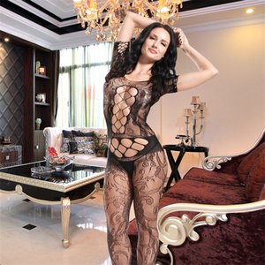 Wholesale Women Body Stocking High Elasticity Sexy Open Crotch Net Bodysuit Hot Lingerie Jumpsuits sexy Lingerie Bodysuit Bodystocking drop ship