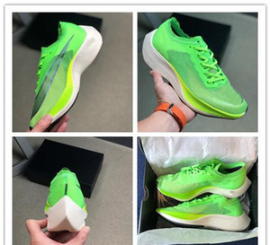 Hot Sale ZoomX Vaporfly NEXT Green Outdoor Women Breathable Running Shoe Mens Designer Sneakers Sport Trainers 36-45 on Sale