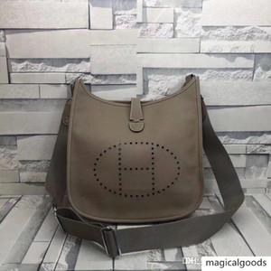 handbag shoulder bag metal hardware large capacity leather canvas printing Evelyne A11 11 andEvelyneA